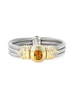David Yurman Vintage David Yurman 14K Yellow Gold, Sterling Silver, Citrine