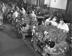 Diesel engines for M4 Sherman tanks, Detroit Arsenal Tank Plant, Warren, Michigan, United States, circa 1944 (Detroit Public Library)