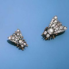 Two diamond insect brooches are these bees or flies? Surely they meant bees!