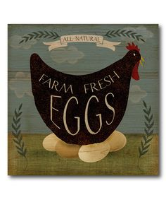 Look what I found on #zulily! 'Farm Fresh Eggs' Wrapped Canvas by Courtside Market #zulilyfinds