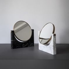 """Bound to inspire vanity, these delectable marble mirrors – by Italian designers @studiopepe_official – are some of the best we've seen. Available…"""