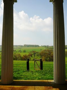 View from the summerhouse folly in Godmersham, Kent. The exact view that Jane Austen would have had 200 years. ago when she was writing Pride and Prejudice.