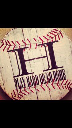 Wooden Crate -Baseball Wall Art