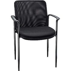 Staples Roaken Mesh Guest Chair with Arms, Black