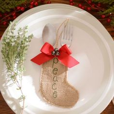 Burlap Peace Silverware Holder, Set of 6 | Kirklands