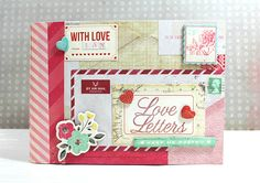 Envelope book to hold love letters