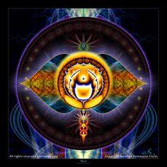 Original Mandala Ajna Chakra Third Eye Chakra par Pumayana sur Etsy