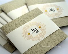 invitations gold/cream
