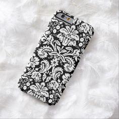 iPhone 6 Cases | i Phone 5 Black Damask Pattern iPhone 6 Case