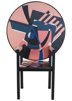 Alessandro Mendini Limited Zabro Chair Table for Zanotta, Italy, 1984