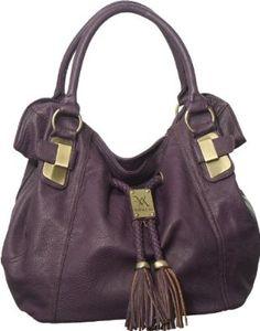 Purple Large Vitalio Vera ''Savitha'' Hobo,$59.95