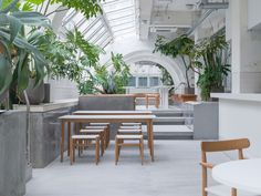 KIRO HIROSHIMA Boutique Hotel Swaps Extravagance for Authenticity   Yatzer Timber Furniture, Outdoor Furniture Sets, Hiroshima Japan, Triple Room, Old Hospital, Future Buildings, House On A Hill, Lounge Areas, Cafes