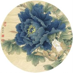 Historian & Museum ProfessionalConfession: I get overly excited when I go to art museums. Korean Painting, Chinese Painting, Chinese Art, Japanese Flower Tattoo, Japanese Flowers, Peony Painting, Silk Painting, Peony Illustration, Oriental Flowers
