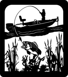 BassCattails-BOAT-36x32.gif (600×676) Wood Burning Stencils, Wood Burning Crafts, Metal Wall Art, Wood Art, Stylo 3d, Plasma Cutter Art, Fish Silhouette, Tumbler Designs, Scroll Saw Patterns