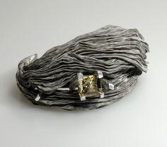 Pawel Kaczynski. Bracelet: Tiara, 2014. Silver 999, silver palladium-plated, stainless steel, citrin 8,9crt - Tom Munsteiner.