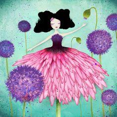 """Bloom' - artist : Anne-Julie Aubry - www.annejulie-art.com  Shop: https://www.etsy.com/shop/TheNebulousKingdom"