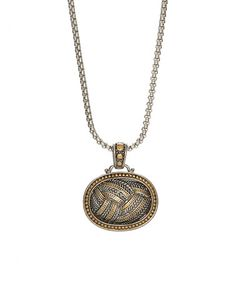 This Two-Tone Braided Oblong Pendant Necklace is perfect! #zulilyfinds