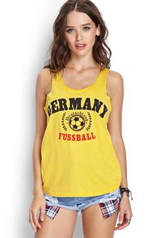Germany Fussball Tank Top | FOREVER21 #F21Score--- I need this!!