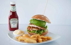 Chicken Avocado Burger and Chips!