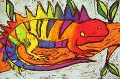 Deep Space Sparkle – Chalk Pastel Lizards for Fifth Grade