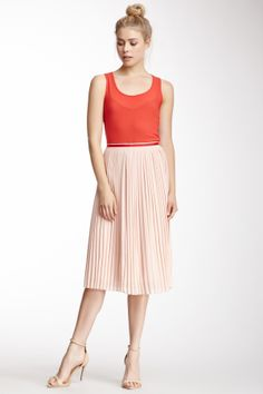 Corina Pleated Midi Skirt