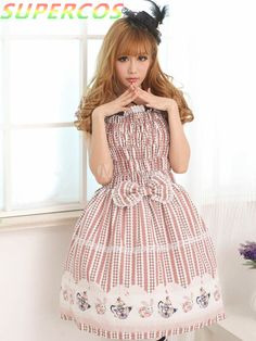 >> Click to Buy << Free shipping! New Arrivals! High Quality! Angel Chocolate Lace Square Neck Short Sleeves Lolita One-Piece Dress #Affiliate