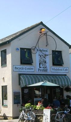 Bicycle Store in Lakes District of England. This is along the popular Coast to Coast (C2C) Bike route.