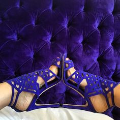 Had my shoes dyed to match my headboard.  #Saturday #newyork #brianatwood @brian_atwood
