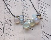 victoria necklace - faceted gemstones sterling silver