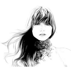 Caroline Andrieu Illustration ❤ liked on Polyvore featuring sketches, drawings, backgrounds, people, art, fillers, doodles, quotes, text y saying