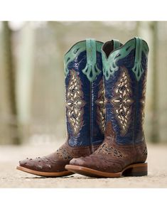 Ariat Cassidy Wingtip Cowgirl Boots - Square Toe | The clothes