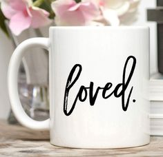 Loved Mug / Valentine Gifts For Men / Valentine Gift for Friend / Gift for Boyfriend  Loved. This one word pretty much says it all. :) This
