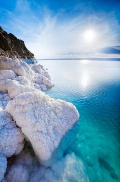Salt formations, Dead Sea, Israel