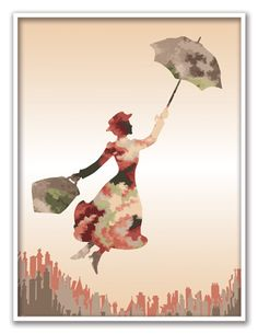 Mary Poppins Wall Art - Printable by TheWookieWorkshop on Etsy