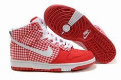 outlet store fe416 125ba Nike Dunk High Womens Sb Womens Skinny Checkers Challenge Red Michael  Jordan Shoes, Air Jordan