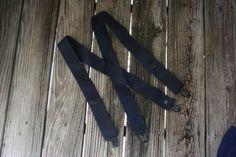 Vintage Navy Blue Suspenders by vintapod on Etsy