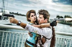 Even Lara Croft can use some help every now and then! Love this shot of me and my love @justin_morrison as Nathan Drake! ___ If you'd like to repost this image, feel free! Just be sure to tag me! #tombraider #tombraidercosplay #laracroft #laracroftcosplay #laracroftcostume #uncharted #nathandrake #nathandrakecosplay #unchartedcosplay