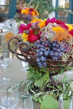 Country Garden Flowers - Napa and Sonoma County Wedding Florist Hall Winery, Country Wedding Centerpieces, Sonoma County, Wineries, Fall Flowers, Wine Country, Olives, Floral Wreath, Wreaths