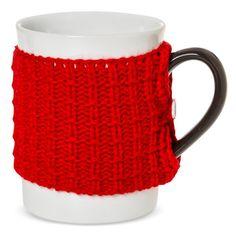 Ugly Sweater 14oz Stoneware Mug Red - Threshold
