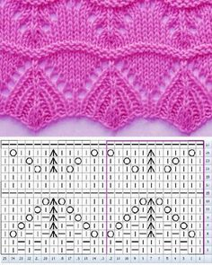 Easy Knitting Projects, Knitting Kits, Knitting Charts, Baby Knitting, Free Knitting, Knitting Sweaters, Lace Knitting Stitches, Lace Knitting Patterns, Knitting Designs