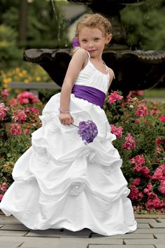 White with purple . @Kristie mcneely haylee would look beautiful in this dress