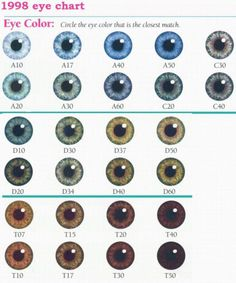 Eye Color Chart | Denver Era My Twinn Eye Color Charts (incomplete set, but a beginning)
