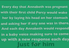 Percabeth (Percy Jackson and Annabeth Chase) Pregnancy Headcanon