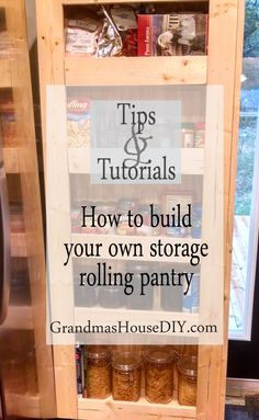 How to build your own rolling pantry, wood working, diy, do it yourself…