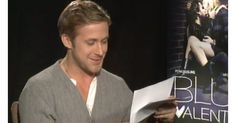 """Some are funnier than others,"" says Gosling, while he looks through some of the images."