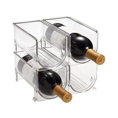 Fridge Binz™ Wine Holder: this could be used for the more aesthetically pleasing pen storage, but more practical/clean than putting cups on a rack.