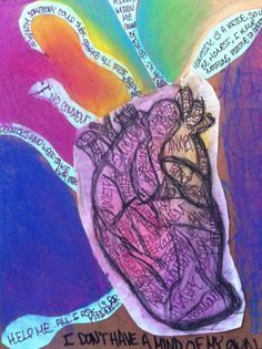 Heart and art therapy // Can't wait to be doing expressive arts therapy after I get my master's. -JH