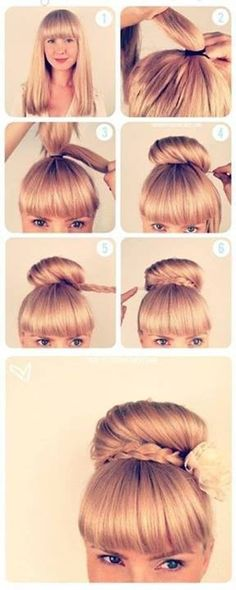 Easy, So-Pretty Hairstyles You Can Do in Under 5 Minutes: Here are our favorite fast hairstyles for short hair, long hair, and everything in between. Fast & Easy Hairstyle For When You're Running Late Fast Hairstyles, Pretty Hairstyles, Braided Hairstyles, Wedding Hairstyles, Disney Hairstyles, Mexican Hairstyles, Woman Hairstyles, Simple Hairstyles, Everyday Hairstyles