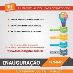 Ajuda virtual ideal para seu negócio!    www.f1mktdigital.com.br    #marketingdigital #redessociais #socialmedia #construçãodesite #lojavirtual #comunicaçãovisual