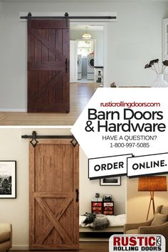 Rustic or modern, we have the barn doors and hardware to match your style. Browse our selection today! Fantasy House, What's Your Style, Interior Barn Doors, Barn Door Hardware, Master Bathroom, Tall Cabinet Storage, Coastal, Room Ideas, Rustic